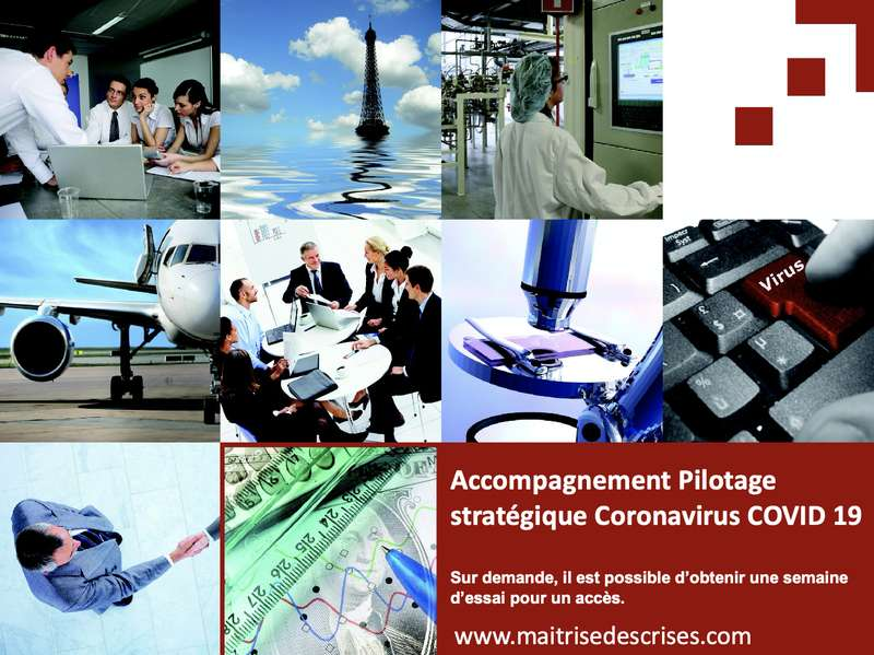 Accompagnement au pilotage stratégique Coronavirus COVID 19